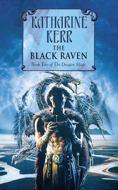 Book cover: The Black Raven - Katharine Kerr (UK edition)