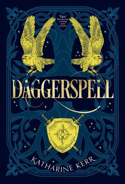 Book cover: Daggerspell - Katharine Kerr (2019 UK edition)