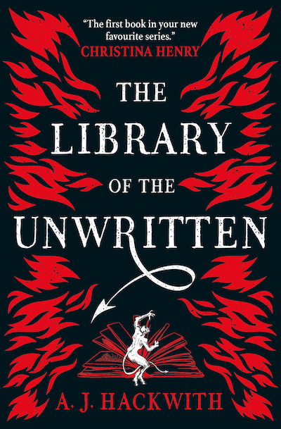 Book cover: The Library of the Unwritten - AJ Hackwith - Titan Books UK edition