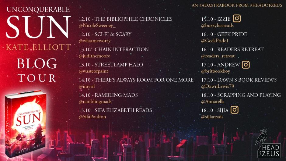 Unconquerable Sun UK Blog tour dates