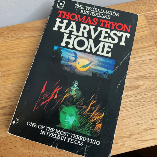 Book on a table - Harvest Home by Thomas Tryon