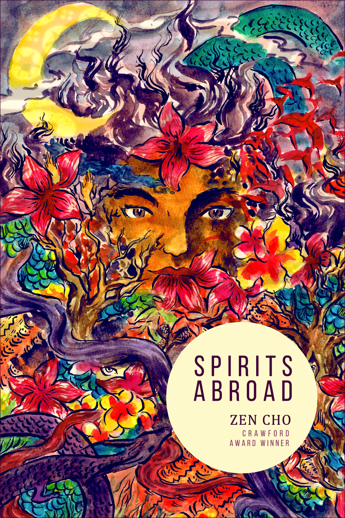 Book cover: Spirits Abroad - Zen Cho (artwork by Likhain)