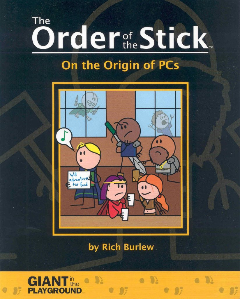 Book cover - The Order of the Stick: On the Origin of PCs